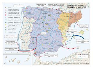 Mapa De Nueva España Siglo Xvi.Edad Moderna