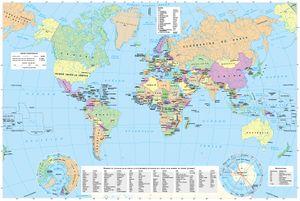Cartografía General Del Mundo Y Europa Atlas Nacional De España